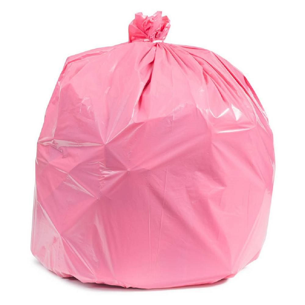 Plasticplace 32 33 Gal Pink Trash Bags Case Of 100 Trash Bag Pink Pink Themes