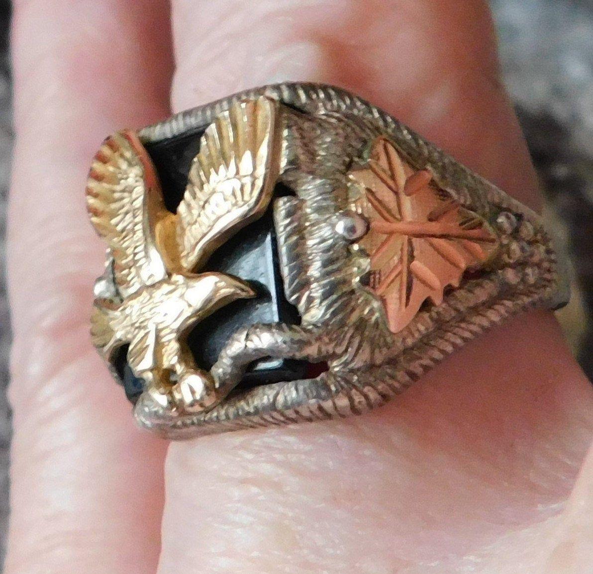 BLACK HILLS GOLD ring size 10 ring western southwestern