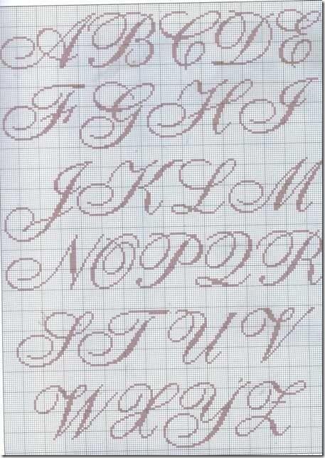Graficos De Ponto Cruz Monogramas De Ponto Cruz
