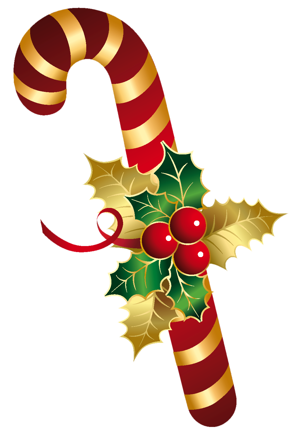 Candy Cane With Holly Transparent Png Clip Art Christmas Drawing Christmas Wallpaper Elf Christmas Decorations