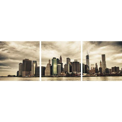 Bilder-Set Lower Manhattan Skyline, 3-tlg., Float Glas Vorderansicht