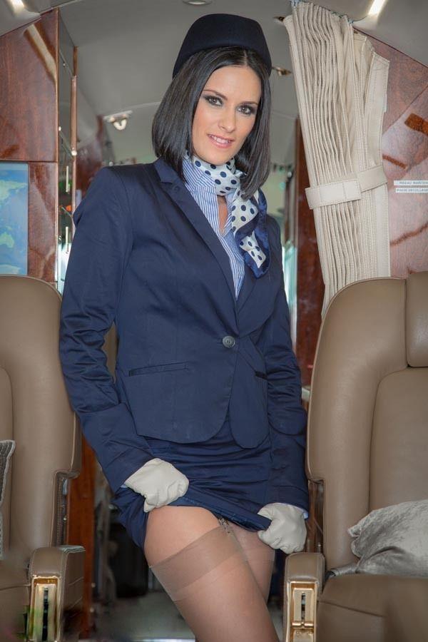 Flight attendants wearing pantyhose