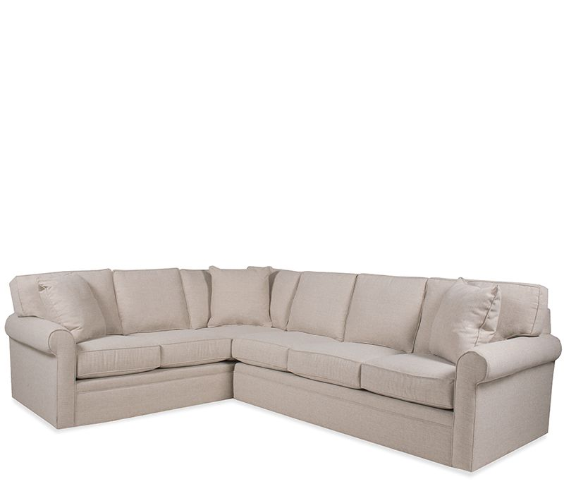 Boston Interiors Stuart Sectional Bone Crypton Fabric With Matching Throw Pillows Metal Connectors Medium Firm Sea Boston Interiors Sectional Sectional Sofa