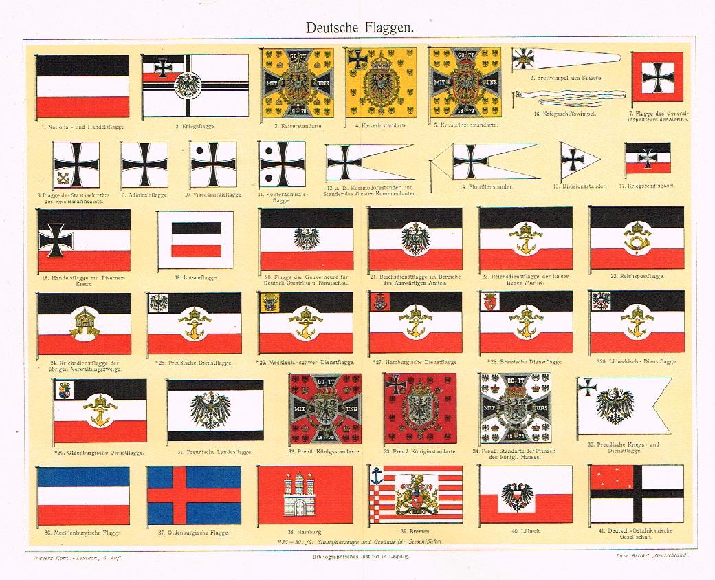Meyers S Lexicon German Flags Chromo 1913 German Flag German Flag Ww1 Flag
