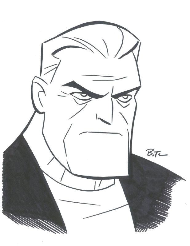 Batman Beyond Old Bruce Wayne by Bruce Timm Comic Art   Batz ...