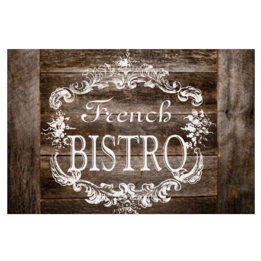 Vintage Look French Bistro Sign | Zazzle Friends | French ...