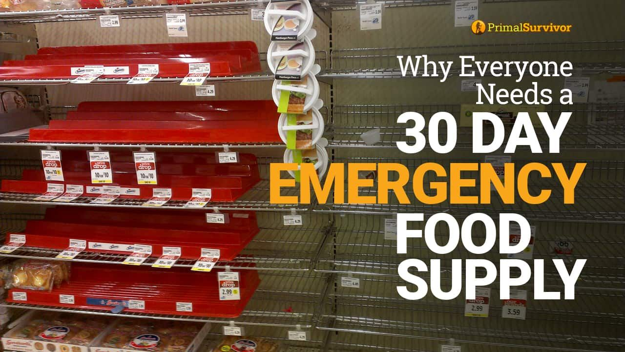 Best foods for your 30 day emergency storage with list