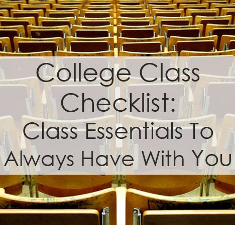 College Class Checklist College, Dorm and School - checklists boosting efficiency reducing mistakes