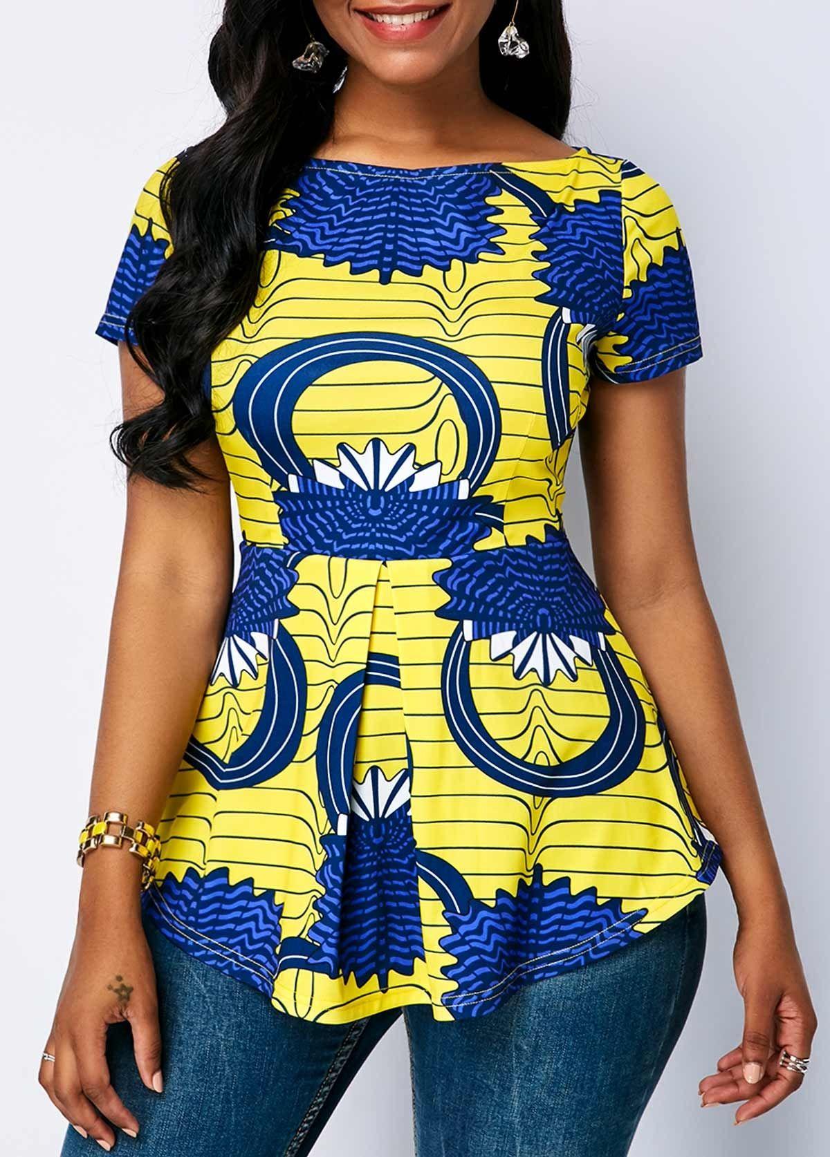 19a5ece333e Beautiful Tops #Tops #rosewe | Ankara fashion in 2019 | African ...