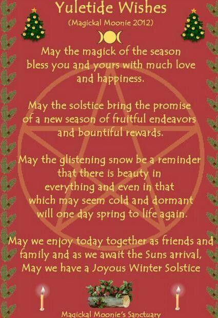 Wicca Christmas.Yule Blessing Pagan Christmas Yule Pagan Yule