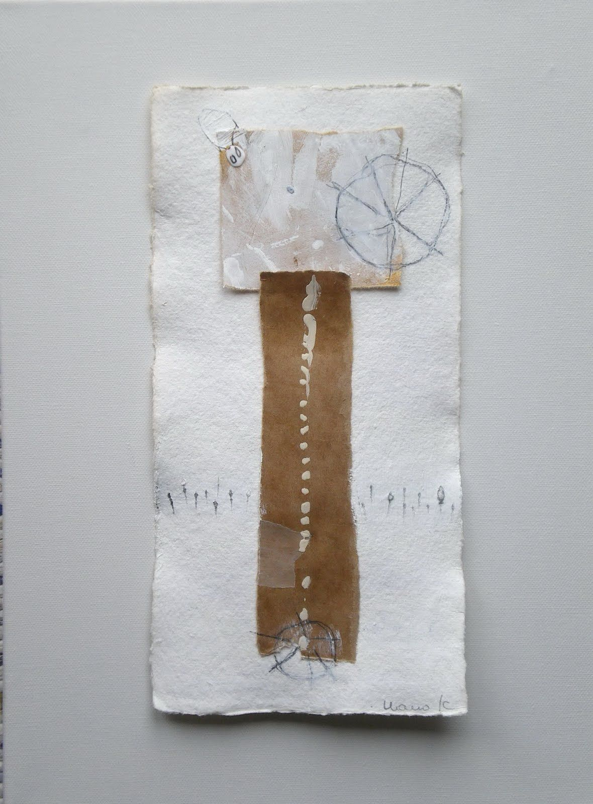 mano kellner  collage / painting 15 x 30 cm