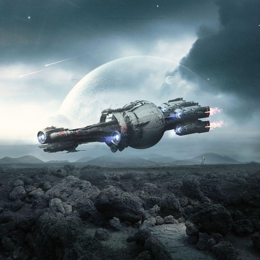 Фантастика картинки космических кораблей