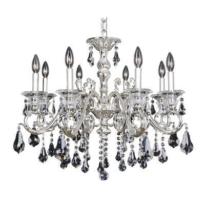 Allegri Haydn 8 Light Crystal Chandelier Crystal: Swarovski Elements Clear