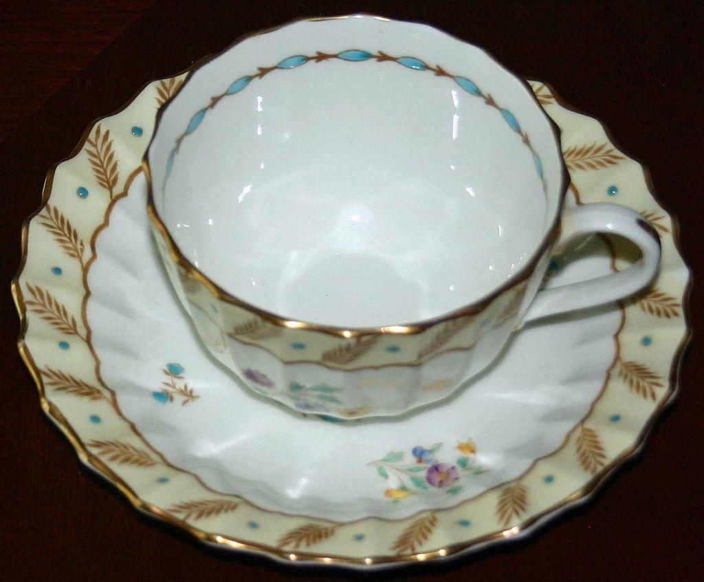 """Royal Worcester """"Surrey"""" Cup and Saucer Set, Hand Painted and Enameled, 7 Available"""