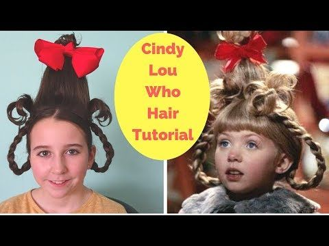 Cindy Lou Who Hair Tutorial - Easy Halloween hairstyle