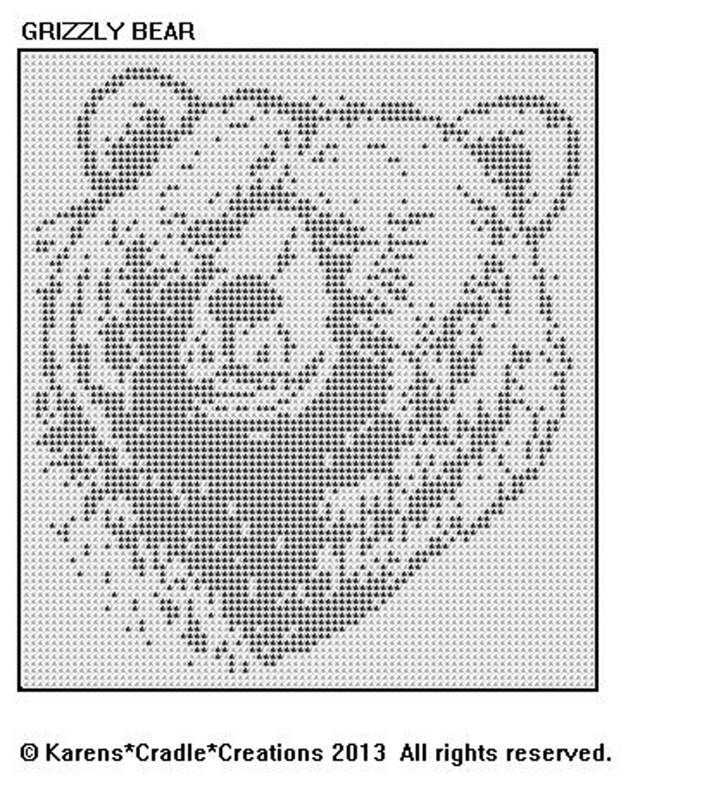 GRIZZLY BEAR Filet Crochet Pattern | crocheted doilies | Pinterest ...