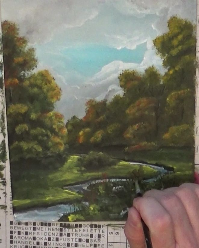 Kostenloser Malkurs Fur Acrylfarben Herbstwald Gleich