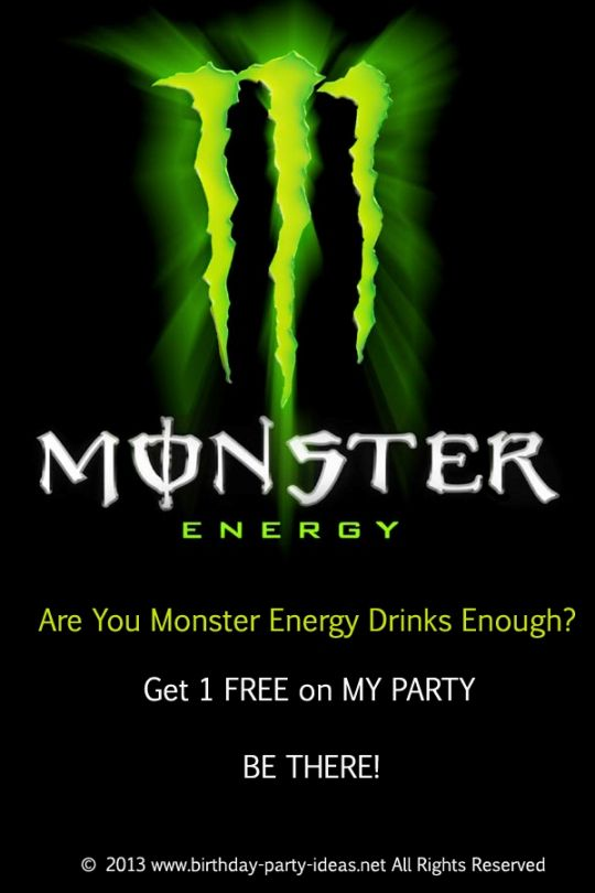 Pin De Birthday Party Ideas En Monster Energy Drink Birthday Party