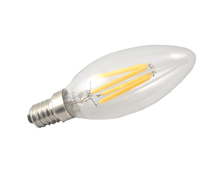 C35 dimbare kaars Led filament lamp kleine fitting C35-4W E14 heldere led verlichting