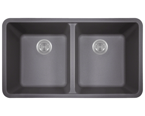 Solera Sinks S208s Double Equal Bowl Composite Granite In Black