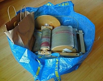 Drum Carder In A Bag Spindals Carders And Wonderful Fibers