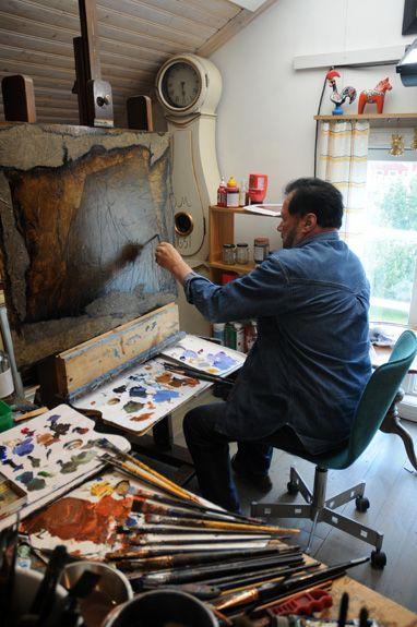 Artist Juhani Palmu, - Alahärmä, South Ostrobothnia province of Western Finland. - Etelä-Pohjanmaa,