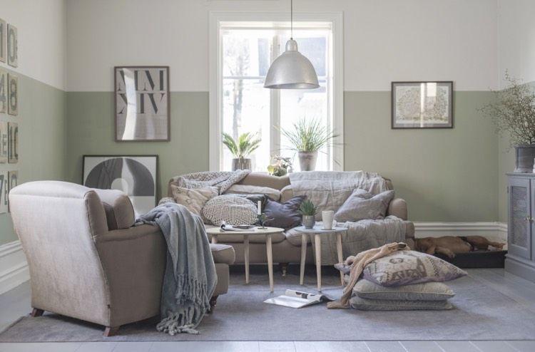 Idée déco peinture intérieur maison \u2013les murs bicolores respirent l