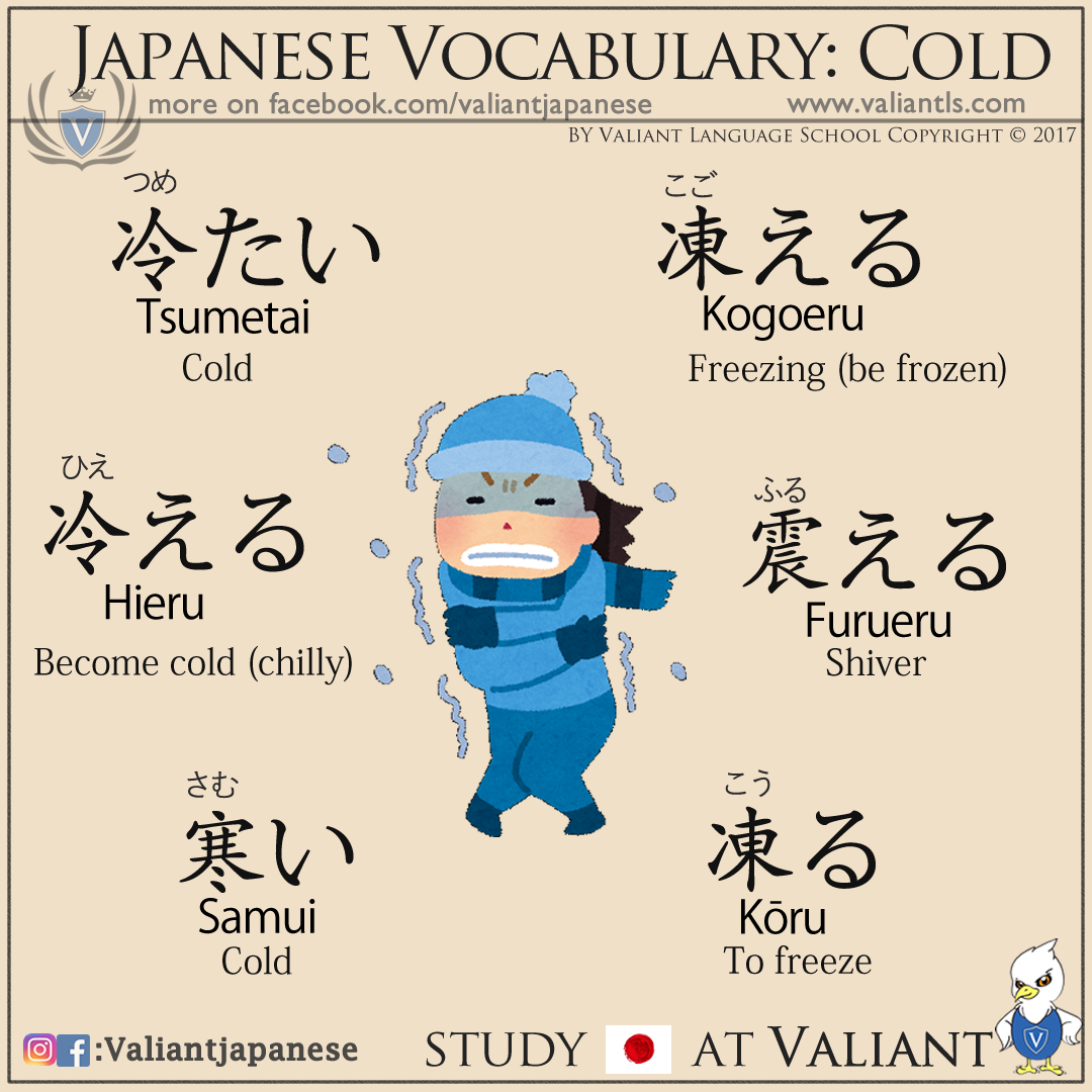 Kanji And Talking About Cold In Japanese More