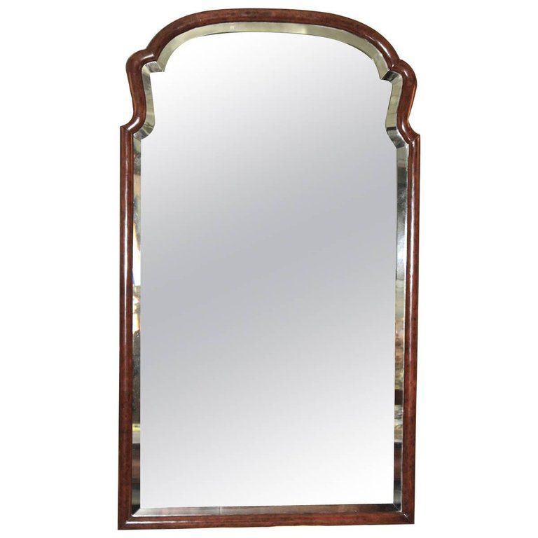 1stdibs Pier Mirror Console Mirror Revival Burl Walnut