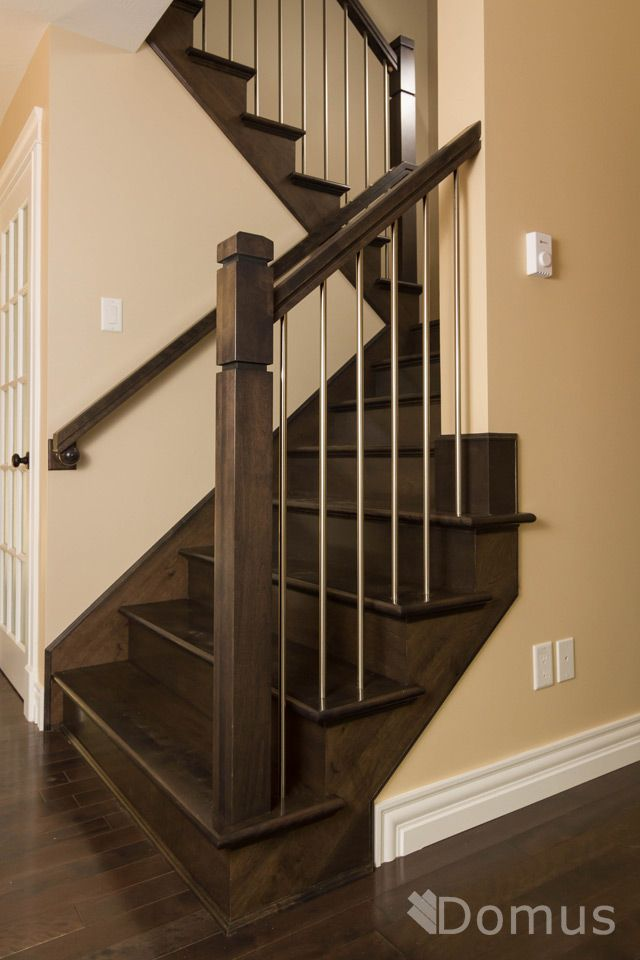 Modern Staircase With Zen Posts And Stainless Steel Spindles