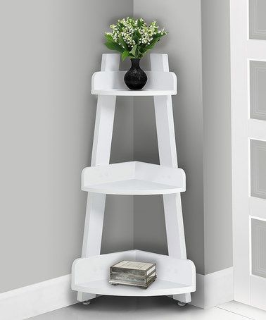 Look what I found on #zulily! White Three-Tier Corner End Table #zulilyfinds