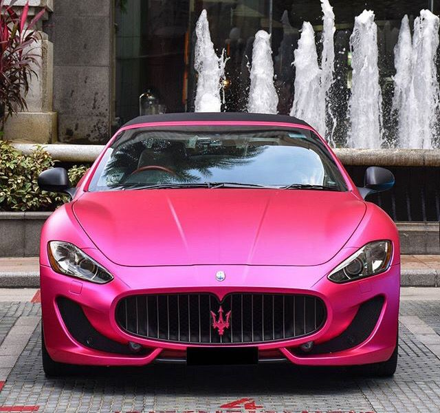 Maserati Granturismo Pink   Girly Cars For Female Drivers. Amazing Design