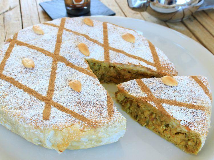Pastela Marroquí Fit (empanada moruna de pollo y almendras