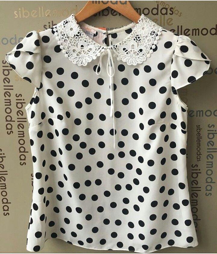 e343565e04 Blusa de bolinha | Blusas | Blusas, Vestidos de bolinhas e Vestidos