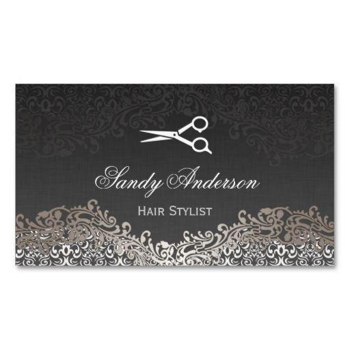 Vintage elegant silver damask indie hair stylist business card vintage elegant silver damask indie hair stylist business card cheaphphosting Image collections