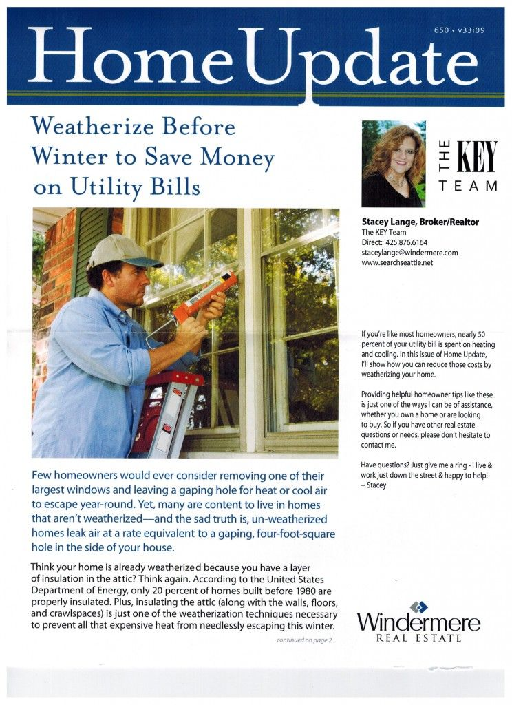 Weatherize Before Winter And Save Money On Your Utility Bills