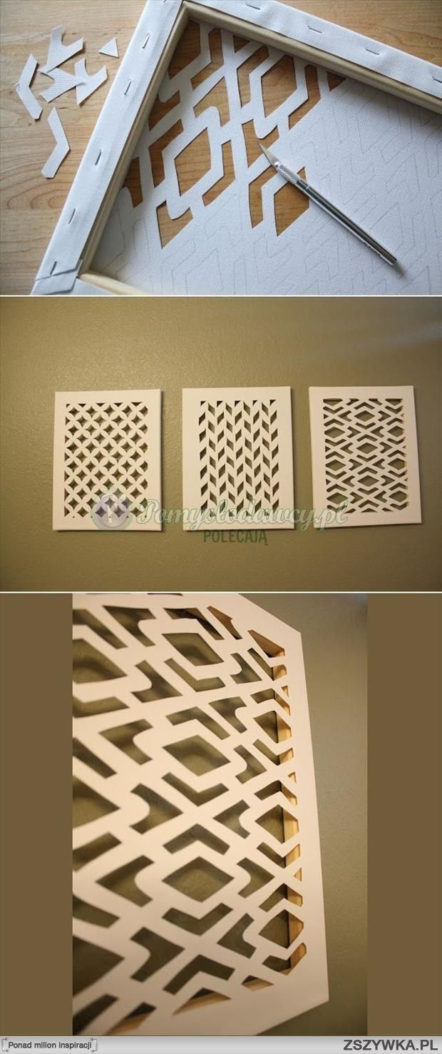 Great idea how to use canvas for wall decoration albüm