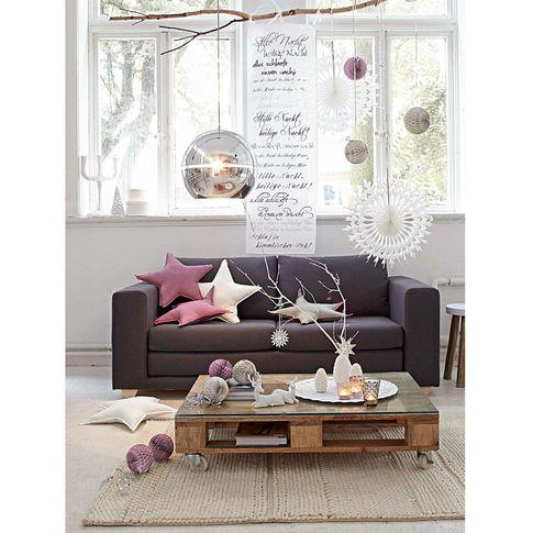 organdy vorhang wei mit aufdruck und 3 bindeb ndern impressionen christmas my home. Black Bedroom Furniture Sets. Home Design Ideas