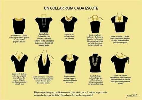 Tipo de collar para cada blusa