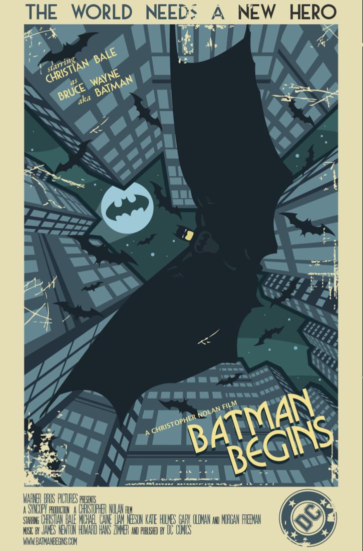 Vintage Movie Posters Batman Begins Movie Batman Movie Posters Vintage
