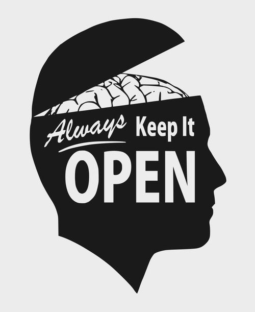 Open minded synonym