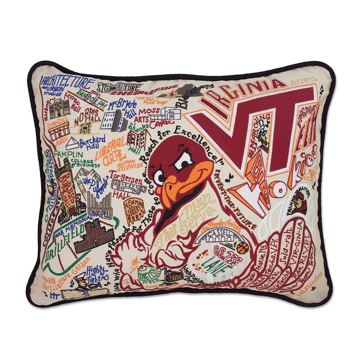 Virginia tech, Virginia tech hokies, Pillows