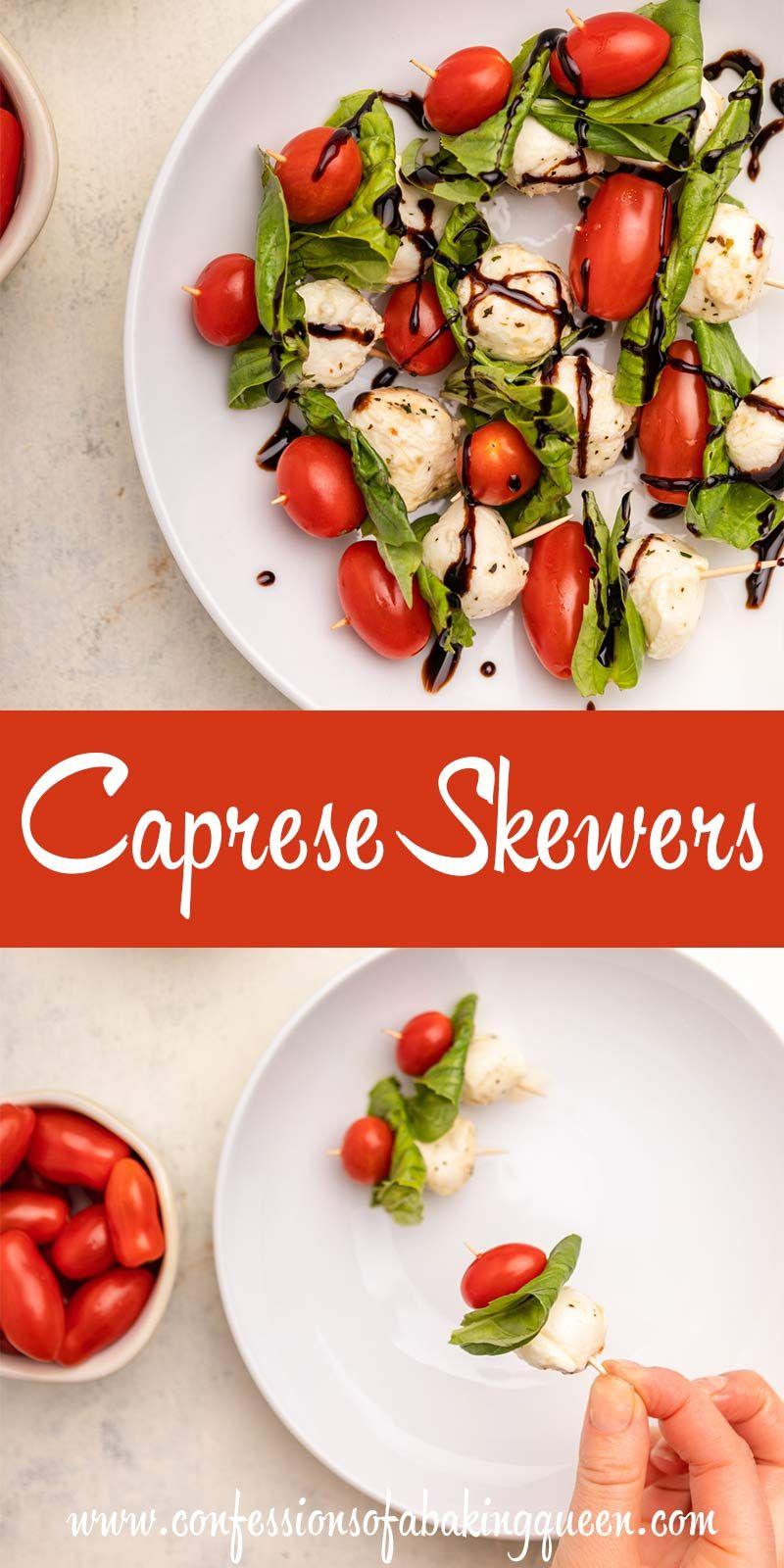 Caprese Skewers In 2020 Appetizer Recipes Caprese Skewers Appetizers