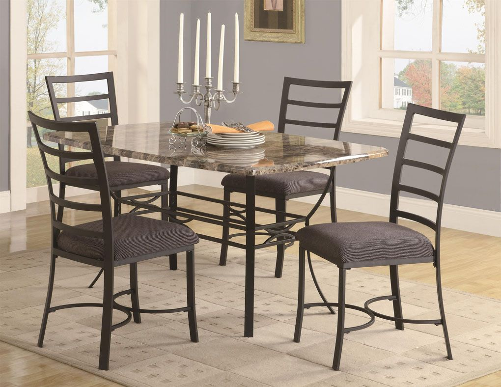 Modern Small Dining Room Sets With Decorative Granite Dining Table ...