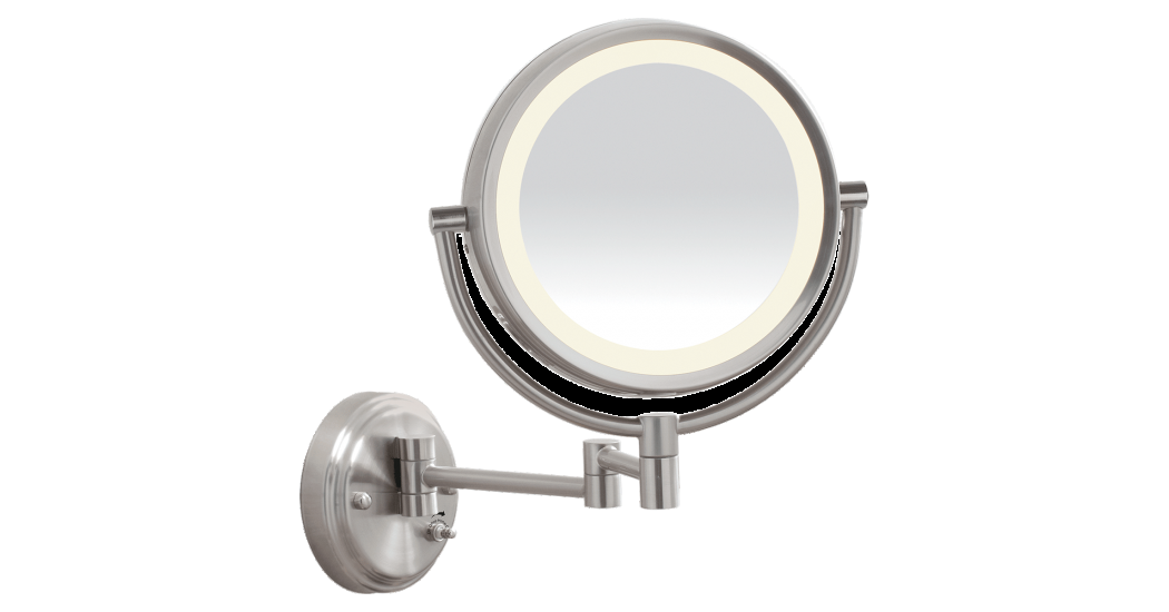Install the Conair LED BrushedNickel WallMount Mirror
