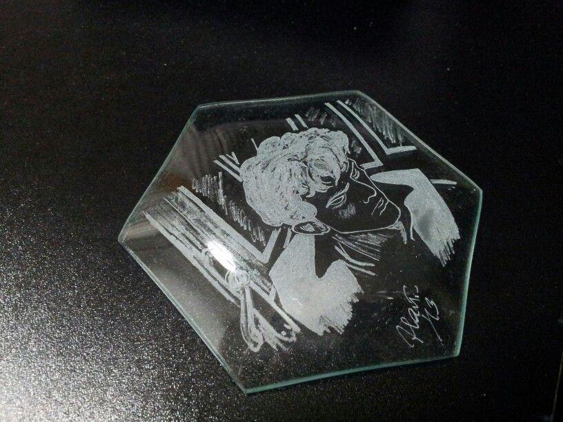 Conosciuto Il mio Dylan Dog. Incisione su vetro | incisione sul vetro  BM73