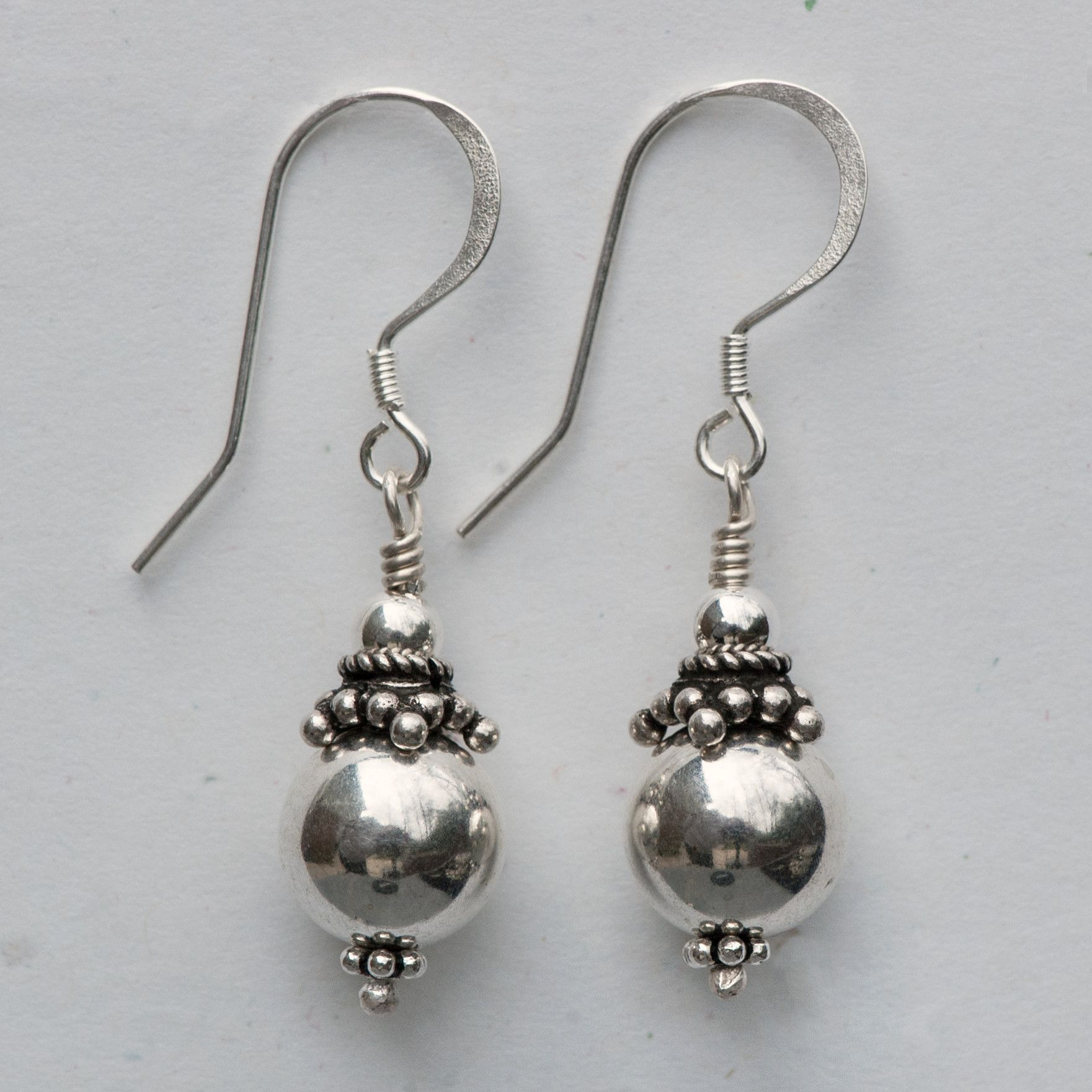 Sterling Silver Earrings | Beads, Sterling silver earrings and ...