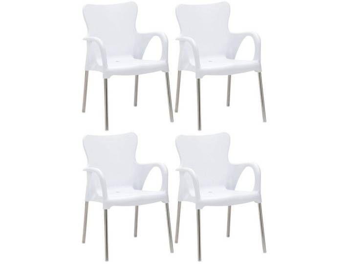 Best Best Stapelstuhl Maui 4er Set Weiss 4 Stuhle Weiss Silberfarb In 2020 Home Decor Decor Furniture