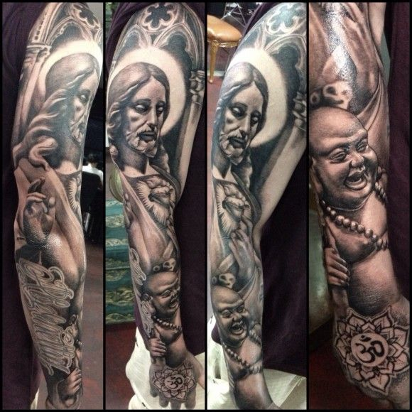 Pin by jan poll k on tattoo mix pinterest tattoo ideas for How to blend tattoos into a sleeve