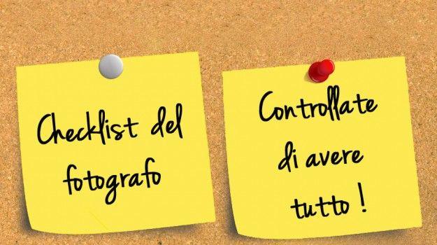 Checklist del fotografo ‹ Francesco Magnani Photography #fotografia #checklist